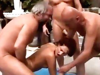 Three Grandpas And A Nubile - Brighteyes69r