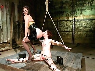 Annabelle Lee & Bobbi Starr In Annabelle Practices The Power Of Copper - Electrosluts