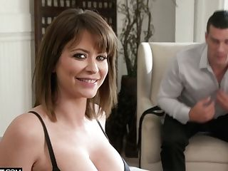 Yankee Bootyful Emily Addison Wears Only Stockings During Rear End Fuck