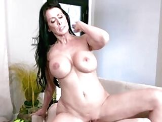 Brown-haired Matures Gags With Sonny's Dick Then Fucks Like A Queen