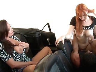 Sandy-haired Tommy Guns Gives A Closeup View Of Her Love Tunnel While Masturbating