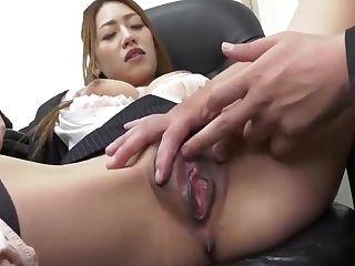 Kanna Kitayama - Pretty Mega-bitch Manager In Office Two - Caribbeanco