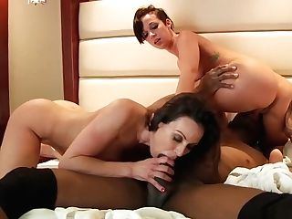Sugary Cougars Kendra Fervor And Jada Stevens Have Joy With A Black Boy