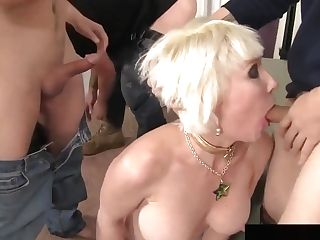 Matures Blonde Gang-fucked Mass Ejaculation
