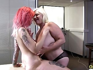 Oldnanny Lacey Starr And Lezzie Striptease
