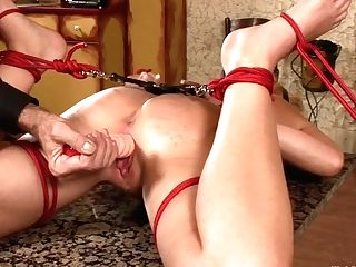 Only Deviant Dude Penalizes Tied Up Jasmine And Makes Her Cunt Weary With Unending Orgasm