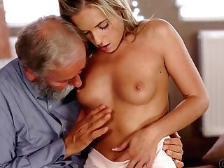 Old4k. Cutie Needs Nothing More But Old Dick Of Her Matures Professor