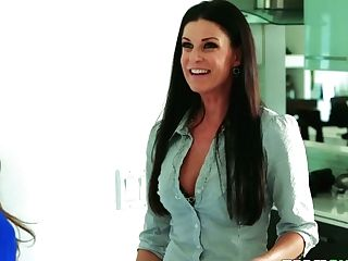 Hot Blooded Step Mommy India Summer Entices Her Stepson And His Gf Arielle Faye