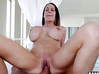 Faux Tittied Cougar Mckenzie Lee Is Railing Bike Faux-cock Before Crazy Muff Pounding
