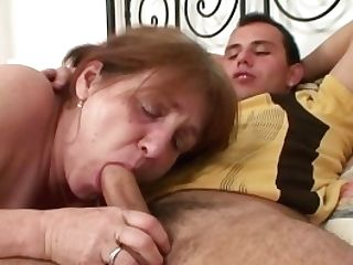 He Heals Chesty Grandmother With His Horny Boner