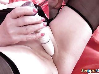 Euro Chubby Matures Woman Trisha Is Masturbating Pointy Cunt