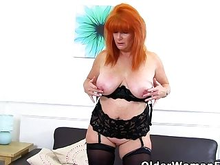 Redheaded Matures Ginger Tiger Plays With Her Lady Bits