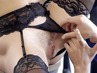 Bosomy Princess In Stockings And Underwear Krissy Lynn Is Making Love With Her Bf