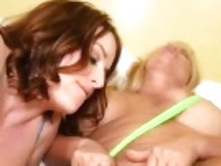 """curvy Swimsuit Mummies Maggie Green & Karen Fisher Fuck Stick Drill!"""