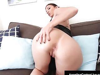 Cuban Bbw Angelina Castro Belt Cock Fucks Phat Ass Milky Girl Cougar Sara Jay!