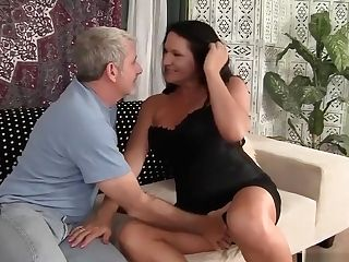 Grandmother Takes Fat Dick
