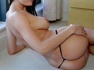 Big Titted Long Legged Black-haired Kyla Fox In Black Boots Takes
