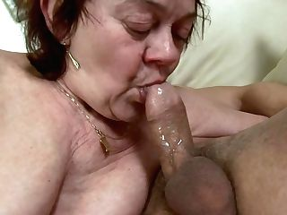 Hungarian Granny Gilf Ravaged In Stockings - Gross Euro Porno With Cum Shot