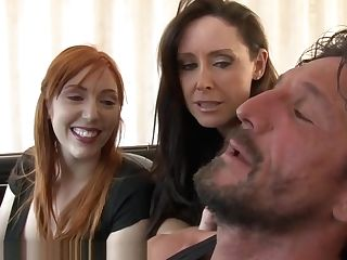 Mom Helps Red-haired Daughter-in-law Fuck Older Man