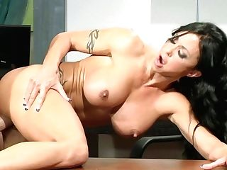 Jade Jewels Office Hump With Hunk - Huge-boobed Black-haired Mummy