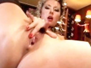 """""""charming Cougar Masturbates At The Bar"""""""