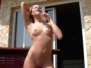 Hot Stunner Bernice Is Absolutely Naked On Balcony Flashing Every