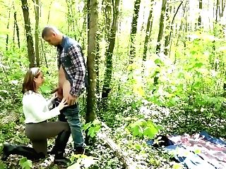 Horny Woman Is Getting Banged From The Back, In The Forest And Luving Every 2nd Of It