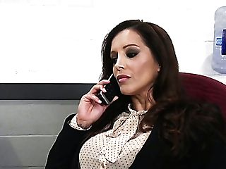Imperious Milfie Bombshell Francesca Le Uses Strap Dildo To Fuck Ass-hole Of Gal