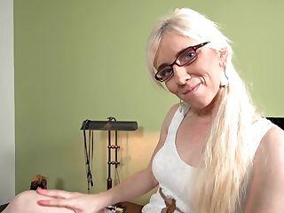 Blonde Lewd Gilf Hot Solo Session