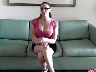 Melanie Hicks - Job Interview Internal Cumshot